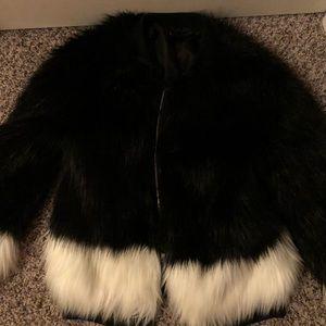 Jackets & Blazers - H&M faux fur coat